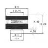 "XSPC Racord PETG Triple Sellado G1/4"" a 14/10mm Negro Cromado"