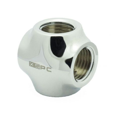 "XSPC Racord G1 /4"" 4 Way Fitting Cromado"