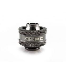 "XSPC V2 G1/4"" a 10/16mm Negro Cromado Racor"