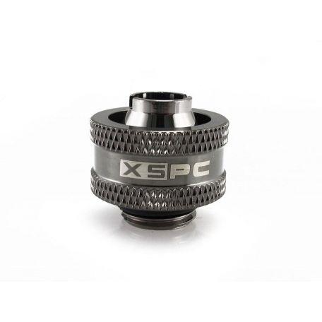 """XSPC Racord de Compresión de G1/4"""" a 3/8"""" ID, 5/8"""" OD Negro Cromado V2"""