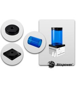 Bitspower Kit para DDC TOP 80 ICE Blue Body Acetal Depósito