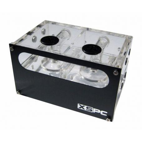 XSPC Depósito Acrylic Dual 5.25 para dos Bombas Laing DDCs