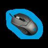 CoolBox Deep Dark Ratón Óptico Gaming + Alfombrilla