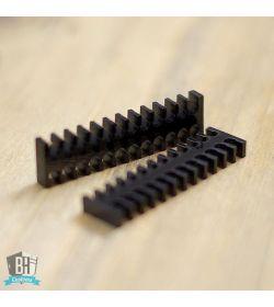BHCustoms Cable Comb Abierto Negro Full Pack 48 pcs 3mm Slim