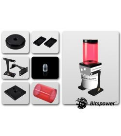 Bitspower Kit para D5 TOP 80 ICE Red Body & Black Acetal Depósito