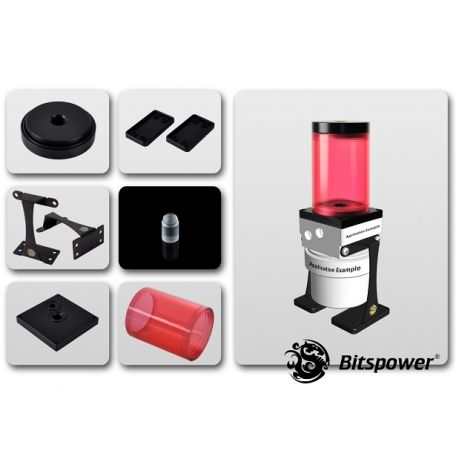 Bitspower Kit de Mejora D5 TOP 80 ICE Red Body & Black POM Version