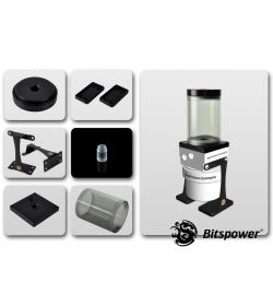 Bitspower Kit para D5 TOP 80 ICE Black Body Acetal Depósito