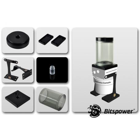 Bitspower Kit de Mejora D5 TOP 80 ICE Black Body & Black POM Version