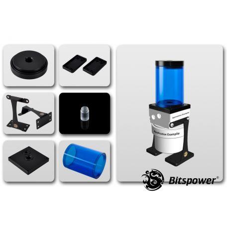 Bitspower Kit de Mejora D5 TOP 80 ICE Blue Body & Black POM Version