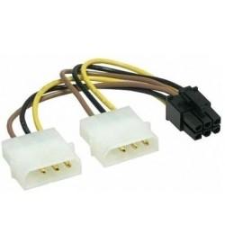 Cable Alimentación 2 Molex a 6pin PCI