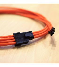 BHCustoms Kit Cableado NARANJA (24 PIN + x4 PCIe)