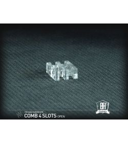 BHCustoms Pack 5 Cable Comb Abierto 4 Slots Transparente 4mm