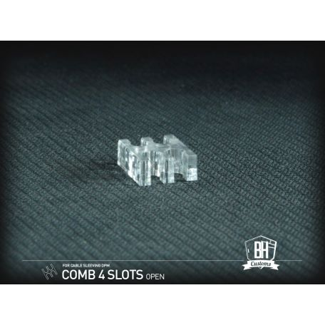 BH Custom Pack 5 cable comb abierto 4 slots transparente