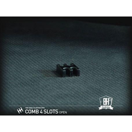 BH Custom cable comb abierto 4 slots negro