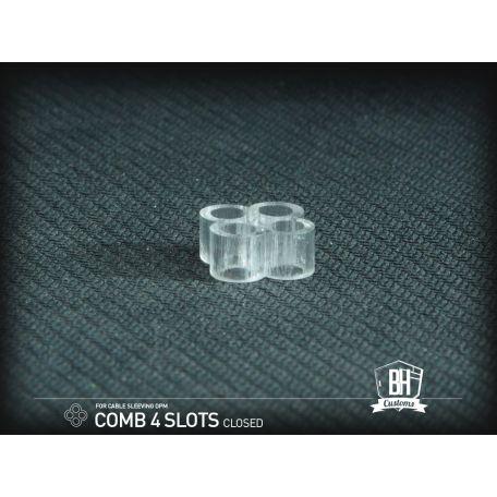 BH Custom cable comb cerrado 4 slots transparente