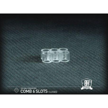 BH Custom cable comb cerrado 6 slots transparente