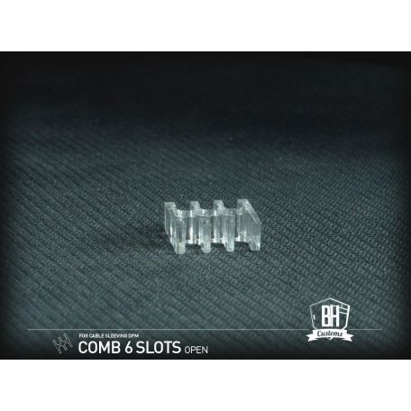BH Custom Pack 5 cable comb abierto 6 slots transparente