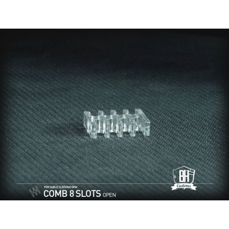 BH Custom Pack 5 cable comb abierto 8 slots transparente