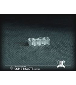 BHCustoms Cable Comb Cerrado 8 Slots Transparente 4mm