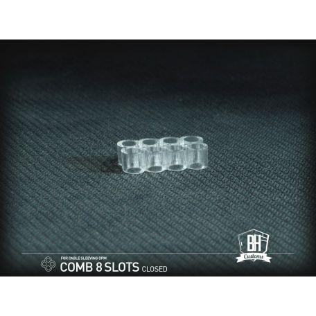 BH Custom cable comb cerrado 8 slots transparente
