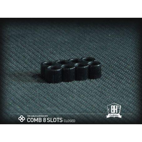 BHCustoms Cable Comb Cerrado 8 Slots Negro 4mm