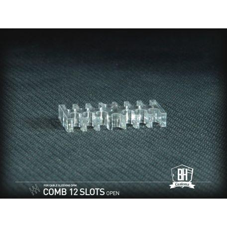 BH Custom cable comb abierto 12 slots transparente