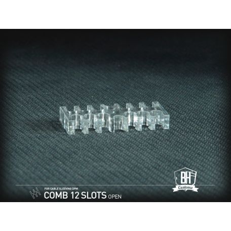 BH Custom Pack 5 cable comb abierto 12 slots transparente