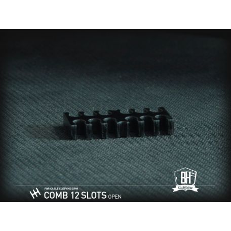 BH Custom Pack 5 cable comb abierto 12 slots negro
