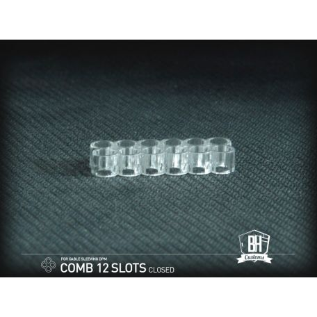 BH Custom cable comb cerrado 12 slots transparente