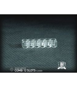 BHCustoms Pack 5 Cable Comb Cerrado 12 Slots Transparente 4mm
