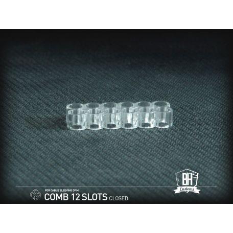 BH Custom Pack 5 cable comb cerrado 12 slots transparente