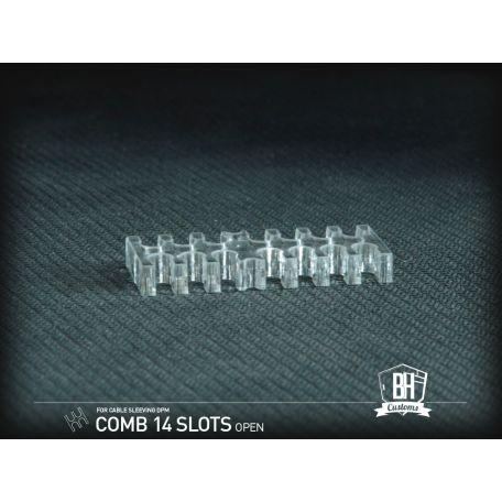 BH Custom cable comb abierto 14 slots transparente