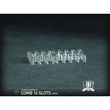 BH Custom Pack 5 cable comb abierto 14 slots transparente