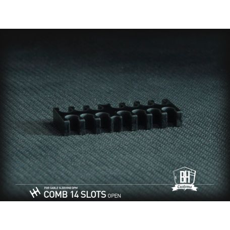 BH Custom Pack 5 cable comb abierto 14 slots negro