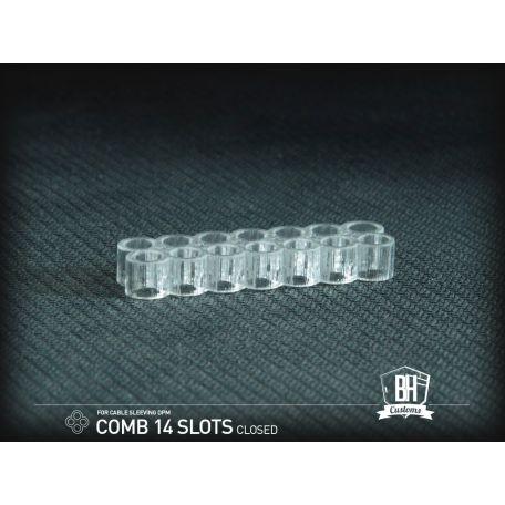 BH Custom cable comb cerrado 14 slots transparente