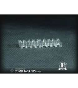 BHCustoms Cable Comb Abierto 16 Slots Transparente 4mm