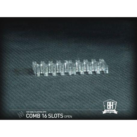 BH Custom cable comb abierto 16 slots transparente