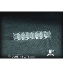 BHCustoms Cable Comb Cerrado 16 Slots Transparente 4mm