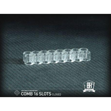 BH Custom cable comb cerrado 16 slots transparente