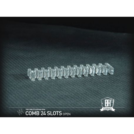 BH Custom Pack 5 cable comb abierto 24 slots transparente