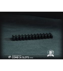 BHCustoms Pack 5 Cable Comb Abierto 24 Slots Negro 4mm