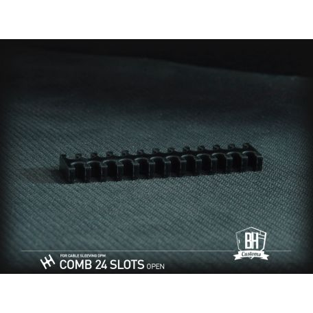 BH Custom Pack 5 cable comb abierto 24 slots negro
