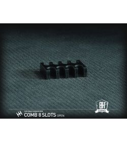 BHCustoms Cable Comb Abierto Negro Full Pack 10 pcs 4mm