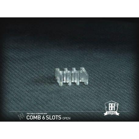 BH Custom cable comb abierto transparente Full Pack 48 pcs