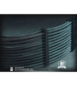 BHCustoms Extensor Cable ATX 24 pin M/H Negro
