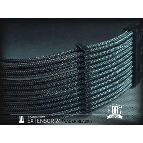 BH Custom cable 24 PIN M/F Negro