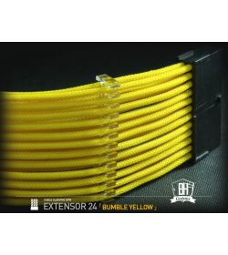 BHCustoms Extensor Cable ATX 24 pin M/H Amarillo