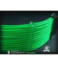 BHCustoms Extensor Cable ATX 24 pin M/H Verde