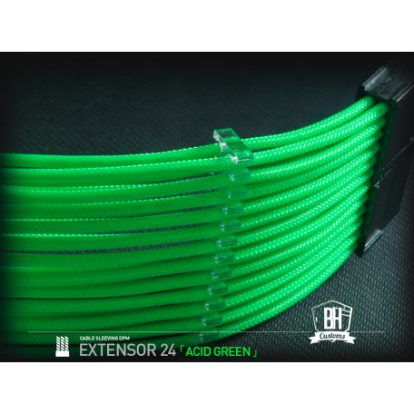 BH Custom cable 24 PIN M/F Verde