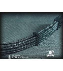 BHCustoms Extensor PCIe 6+2 pin M/H Negro